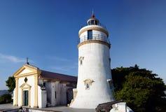маяк macau guia форта фарфора молельни Стоковое Изображение RF