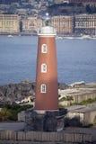 маяк naples Италии гавани Стоковое Фото