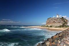 маяк newcastle Австралии Стоковое фото RF