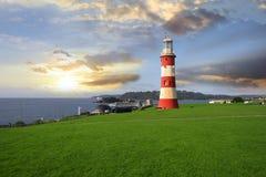 маяк plymouth Великобритания Девона Стоковое фото RF