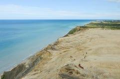 Маяк Rubjerg Knude и песчанные дюны на датском Северном море Стоковое фото RF