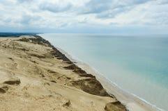 Маяк Rubjerg Knude и песчанные дюны на датском Северном море Стоковая Фотография RF