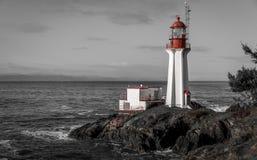 Маяк Shearingham черно-белый Стоковые Изображения