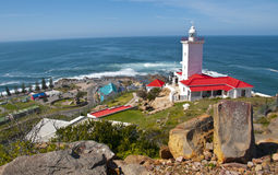 Маяк St Blaize накидки, залив Mossel, Южная Африка Стоковые Изображения RF