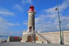 Маяк St Tropez, французской ривьеры, к югу от Франции стоковые изображения