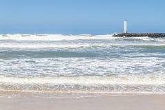 Маяк Torres в ветреном дне и голубом небе Стоковое Изображение