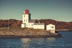 Маяк Tyrhaug Прибрежная башня, старый стиль Стоковые Фото
