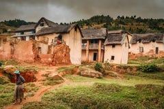 Малагасийская деревня Стоковые Изображения