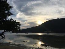 Малайзийский заход солнца Стоковое Фото