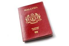 Малайзийский пасспорт Стоковое Изображение