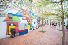 Малайзия - 11-ое февраля 2017:: искусство улицы на стене на Melaka к Стоковое Изображение RF