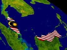 Малайзия с флагом на земле иллюстрация вектора
