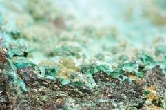Малахит медный минерал окисоводопода карбоната Стоковое Изображение