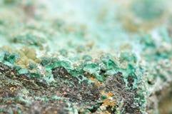Малахит медный минерал окисоводопода карбоната Стоковое Изображение RF