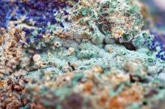 Малахит медный минерал окисоводопода карбоната Стоковые Фотографии RF