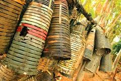 Малая бамбуковая корзина Стоковые Фотографии RF