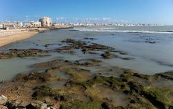 Малая вода на Кадисе, Испании Стоковая Фотография