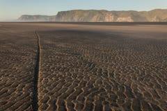Малая вода на пляже Karekare Стоковая Фотография