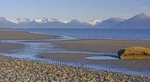 Малая вода на тихом пляже Стоковые Изображения RF