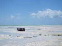 Малая вода на Paje, Занзибаре Стоковое Изображение