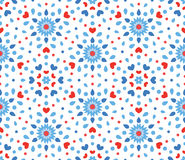 Малая голубая и красная картина цветка Стоковые Фотографии RF