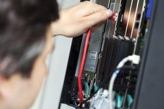 Коммутатор телефона - затыкающ внутри Стоковое фото RF