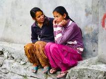 Малая деревня в Гималаях внутри положения Himachal Pradesh Стоковое Фото