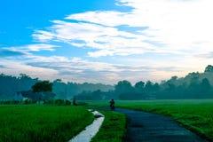 Малая деревня в Индонезии стоковое изображение