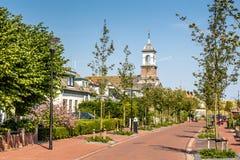Малая деревня на островах Texel wadden Стоковое Изображение RF