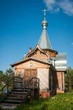 Малая деревянная церковь на Sergeevo, Palekh, зоне Владимира, России Стоковые Фотографии RF