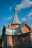 Малая деревянная церковь на Sergeevo, Palekh, зоне Владимира, России Стоковые Фото