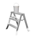 Малая лестница металла при изолированная краска Стоковые Изображения RF