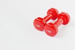 Малая красная гантель Стоковое Фото