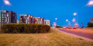 Малая ноча города стоковое изображение rf