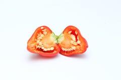 Малая паприка колокола chili на белой предпосылке Стоковые Фотографии RF
