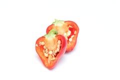 Малая паприка колокола chili на белой предпосылке Стоковое фото RF