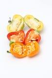 Малая паприка колокола chili на белой предпосылке Стоковые Изображения