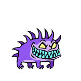 Малая собака от ада также вектор иллюстрации притяжки corel Стоковая Фотография