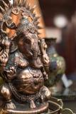 Малая статуэтка Ganesha, индусский бог металла с слоном он Стоковые Фото