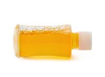 Малая стеклянная изолированная бутылка пробирки Стоковое фото RF