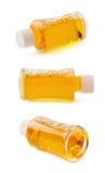 Малая стеклянная изолированная бутылка пробирки Стоковые Фото