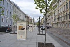 Малая улица конюшен, StPetersburg Стоковая Фотография