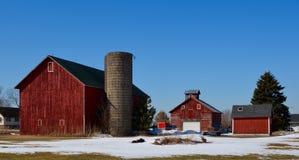 Малая ферма семьи Стоковое Изображение RF