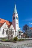 Малая церковь в городке Стоковое Фото