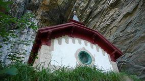 Малая часовня горы над chur, Швейцарией Стоковое фото RF