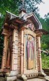 Малая часовня около источника святой воды Стоковая Фотография RF