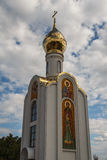 Малая часовня перед парламентом в Tirapol, Приднестровье Стоковое Фото
