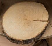 Малая часть отрезанных деревянных журналов Стоковое Фото