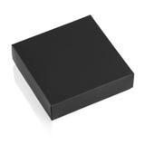 Малая черная штейновая картонная коробка изолированная на белой предпосылке Стоковые Фото