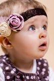Маленькая дама с держателем Стоковое Изображение RF